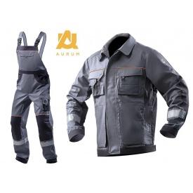Костюм рабочий AURUM GREY куртка+полукомбинезон хлопок