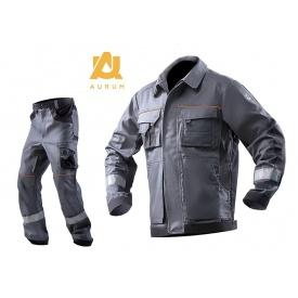 Костюм рабочий AURUM куртка+брюки хлопок серый