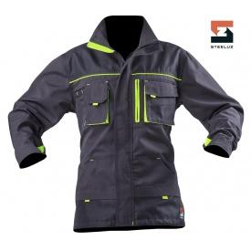Куртка мужская рабочая SteelUZ с салатовой отделкой