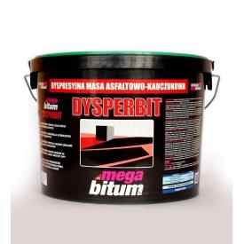 Мастика бітумно-каучукова на воді MEGA BITUM DYSPERBIT 10 кг