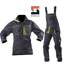 Костюм рабочий SteelUZ куртка+полукомбинезон с салатовой отделкой