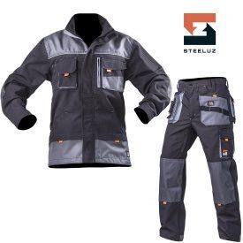 Костюм рабочий SteelUZ куртка+брюки со светло-серой отделкой