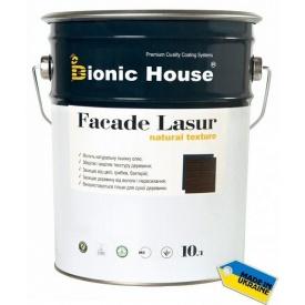 Фасадная лазурь Bionic-House на льняном масле FASADE LASUR 10 л