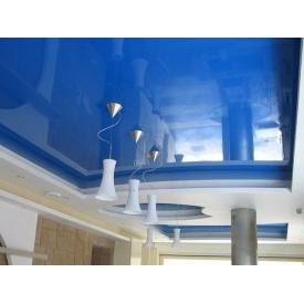 Натяжной потолок MultiБуд глянцевый голубой