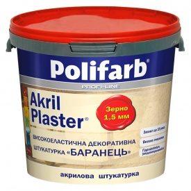 Штукатурка баранець 1,5мм AkrilPlaster 25 кг