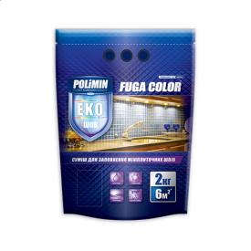 Затирка для швів FUGA COLOR Коричневий Polimin 2 кг
