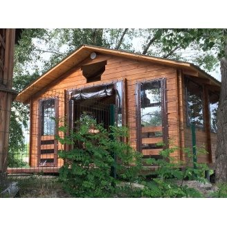 Альтанка дерев'яна з профільованого бруса 12 м2 Log Cabin 000