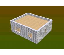 Строительство дома из газоблока 50,05 м2