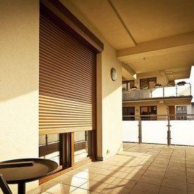 Роллета на балкон Alutech 2200х2400 мм золотой дуб