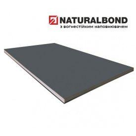 Алюмінієва композитна панель Naturalbond 1500x6100х4/0,4 мм Iron Grey (RAL 7011)