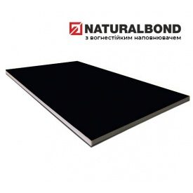 Алюмінієва композитна панель Naturalbond 1250x5600х4/0,4 мм Jet Black (RAL 9005)