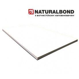 Алюмінієва композитна панель Naturalbond 1250x4800х4/0,4 мм Pearl White