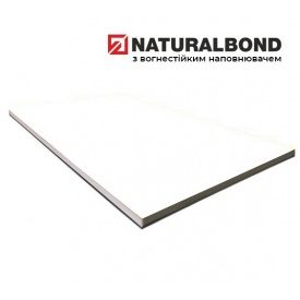 Алюмінієва композитна панель Naturalbond 1500x6000х4/0,4 мм Pearl White