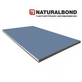 Алюмінієва композитна панель Naturalbond 1500x6100х4/0,4 мм Light Blue Metallic Silver