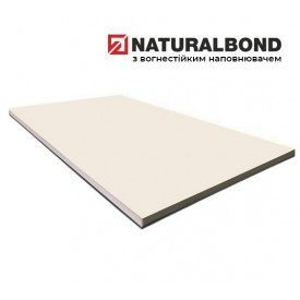 Алюминиевая композитная панель Naturalbond 1250х5200х4/0,4 мм Cream White