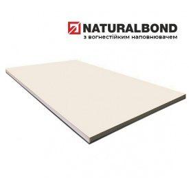 Алюминиевая композитная панель Naturalbond 1250х5600х4/0,4 мм Cream White