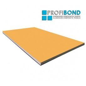 Алюмінієва композитна панель Profibond 1500x6610х4/0,4 мм Saffron Yellow (RAL 1017)