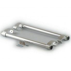 Дверная ручка-скоба офисная AFC серебро 500 мм