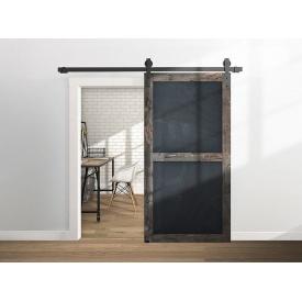 Комплект розсувної системи Mantion THOR в стилі LOFT 2.4 м матовий чорний
