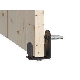 Нижний настенный проводник для раздвиных дверей чёрный матовый