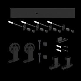 Розсувна система Mantion MODI LOFT 2 м для дверей матова чорна