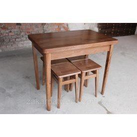 Комплект обеденной мебели Украина ТД бук стол 900х600 мм + табуретки 300х300 мм