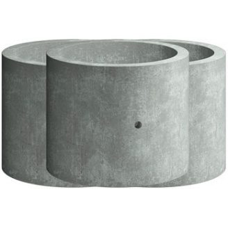 Кільце з дном Elit Beton КЗД 10.9 залізобетонне 1000х900 мм