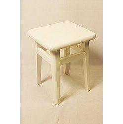 Табурет 45x30x30 см белый
