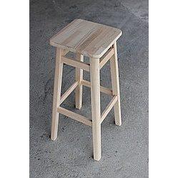 Барный стул 80х30х30 см буковый под лаком