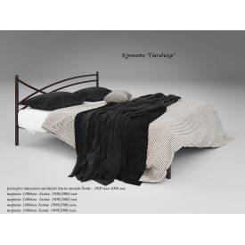 Двоспальне ліжко Tenero Гвоздика металева 1400х2000 мм чорна