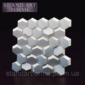 Гипсовая декоративная 3D панель Соты на стену 50х50х3 см