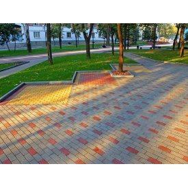 Вибропрессованная тротуарная плитка Кирпичик 45 мм