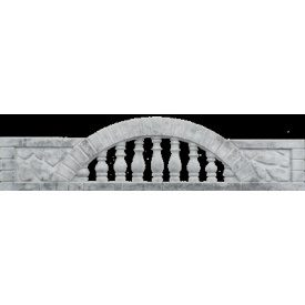 Європаркан залізобетонний Бут малий 2х0,5 м