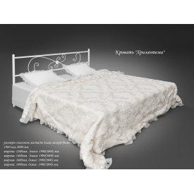Двоспальне ліжко Tenero Хризантема металева 1800х2000 мм біла