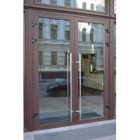 Алюминиевые двери с электрозамками