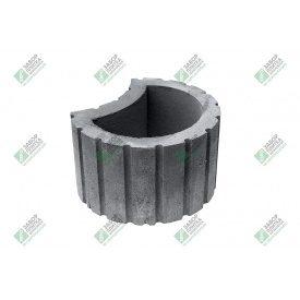 Вазон прес круглий 410х300х240 мм сірий
