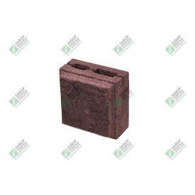 Полублок облицювальний колотий з фаскою 390х190х188 мм червоний