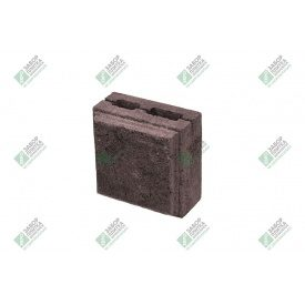 Полублок облицювальний колотий з фаскою 390х190х188 мм коричневий