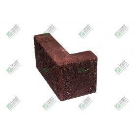 Блок кутовий колотий без фаски 390х190х90х188 мм червоний
