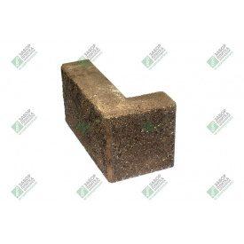 Блок кутовий колотий без фаски 390х190х90х188 мм сурик