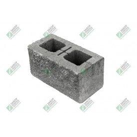 Блок стандарт колотый без фаски 390х190х188 мм серый