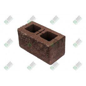 Блок стандарт колотый без фаски 390х190х188 мм коричневый
