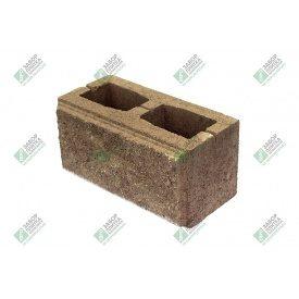 Блок стандарт колотый с фаской 390х190х188 мм сурик