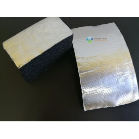 Каучуковая изоляция самоклейка с покрытием Алюхолст 13 мм для наружного применения