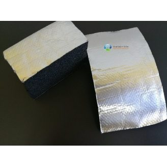 Каучукова ізоляція самоклейка з покриттям Алюхолст 13 мм для зовнішнього застосування