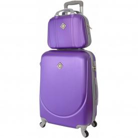 Комплект валіза + кейс Bonro Smile (середній) фіолетовий