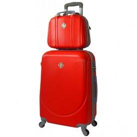 Комплект валіза + кейс Bonro Smile (середній) червоний