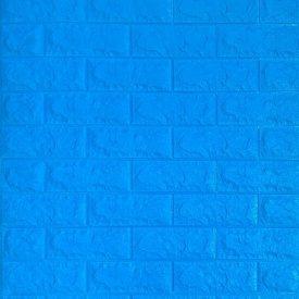 Самоклеющаяся декоративная 3D панель под синий кирпич 700x770x7 мм Os-BG09