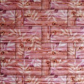 Самоклеющаяся декоративная 3D панель бамбуковая кладка оранжевая 700x700x8 мм