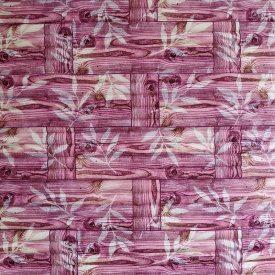 Самоклеющаяся декоративная 3D панель бамбуковая кладка розовая 700x700x8 мм
